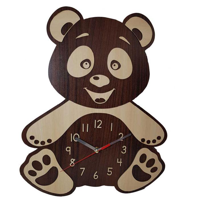 ساعت کارتونی چوبی پاندا از جنس MDF