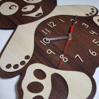 ساعت چوبی خرس مناسب برای اتاق کودک