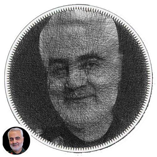 تابلوی میخ و نخ سردار سلیمانی