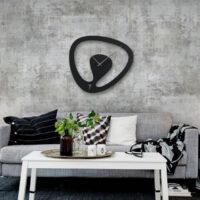 ساعت دیواری اورانوس مشکی