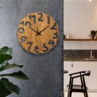 ساعت دیواری جنس چوب