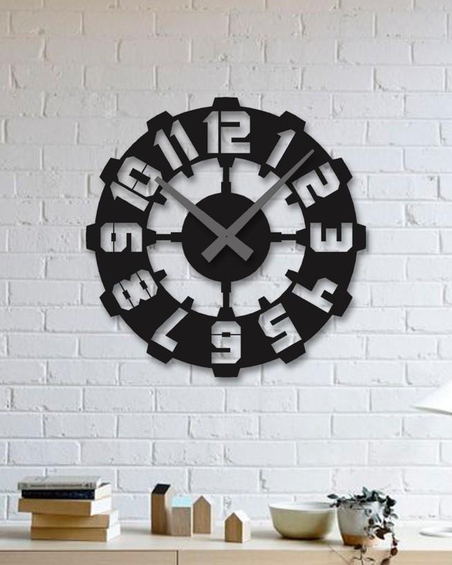 ساعت دیواری مشکی لوکس