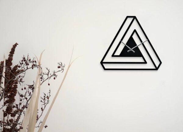 ساعت دیواری مدل Triangle جنس گلس (شیشه نشکن) مثلثی