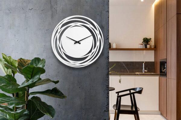ساعت دیواری مدل اورانوس سپید