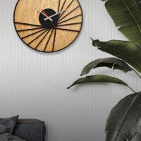 ساعت دیواری مدل چوب