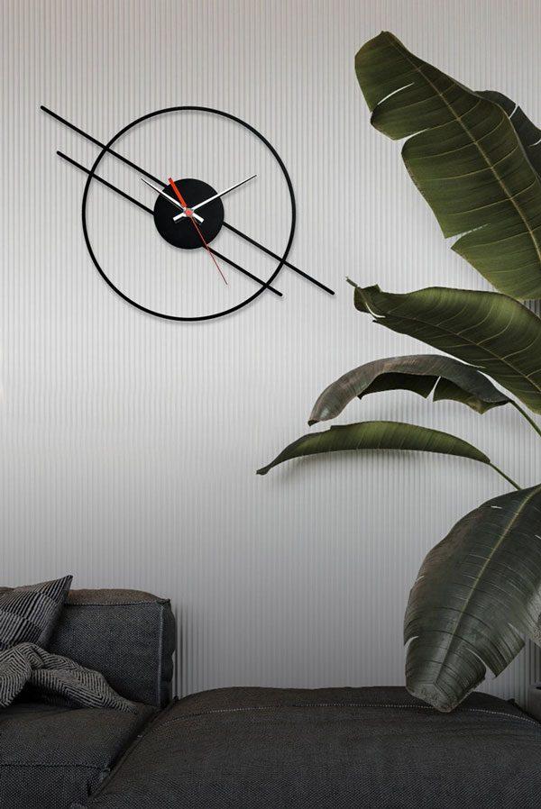 ساعت دیواری با طرح مدرن از جنس شیشه نشکن (پلکسی گلس)