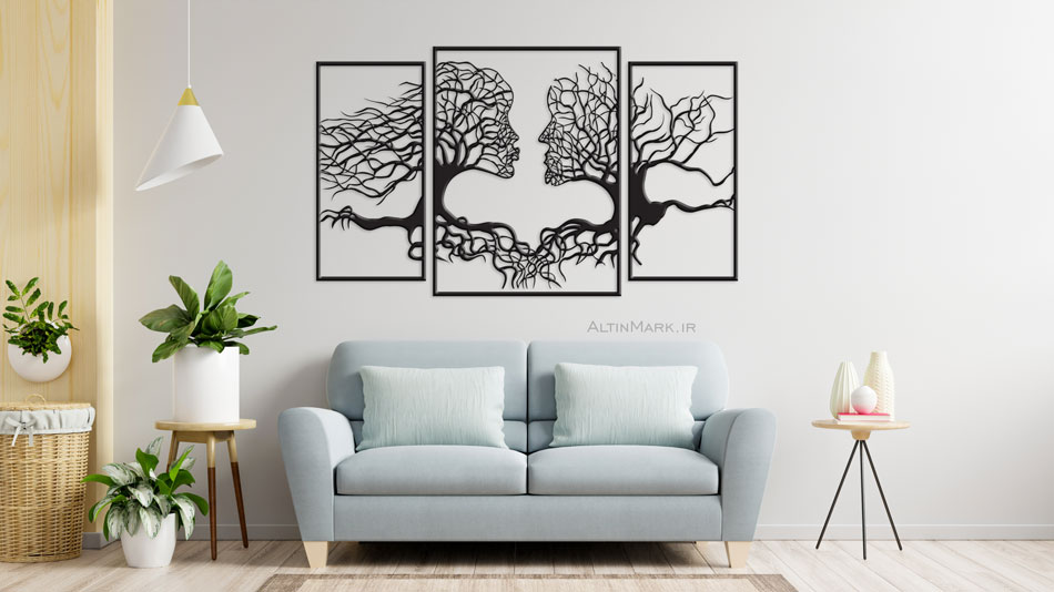 تابلو آرت لاین درخت عشق