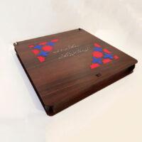 """باکس هدیه طرح اسلیمی جنس چوبی MDF """"جعبه هدیه شیک"""""""