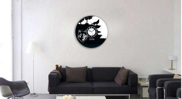 ساعت دیواری طرح قورت مشکی کد Qurt-001