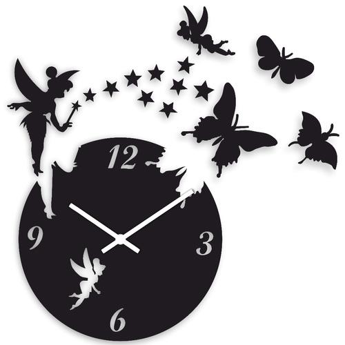 ساعت دیواری طرح پروانه و فرشته