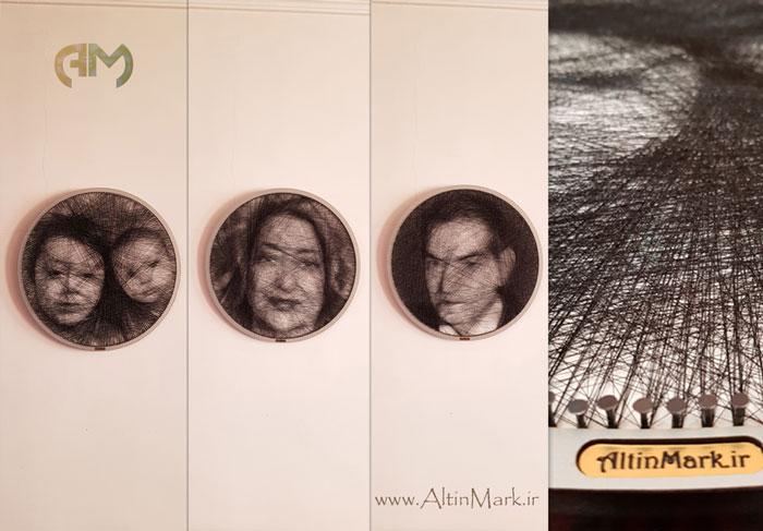 سفارش خرید تابلوی میخ و نخ طرح چهره زیباترین هدیه