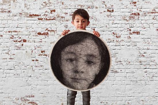 سفارش تابلوی میخ و نخ بافت تصویر چهره شما