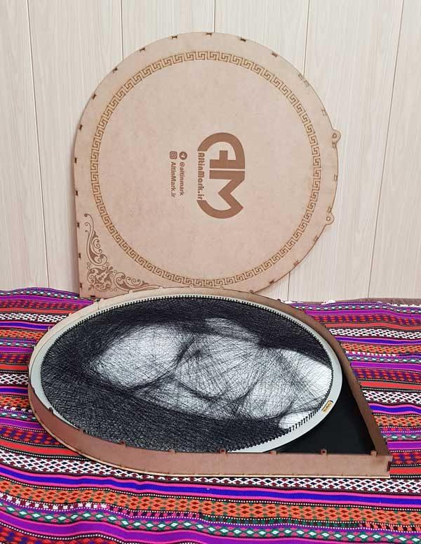 تابلوی میخ و نخ شهریار بافته شده با دست و نفیس
