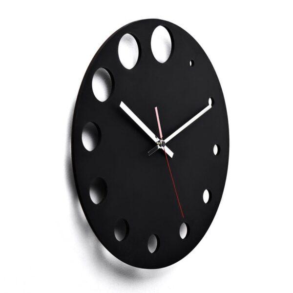 ساعت دیواری مدل روز جنس پلکسی (شیشه نشکن) مشکی