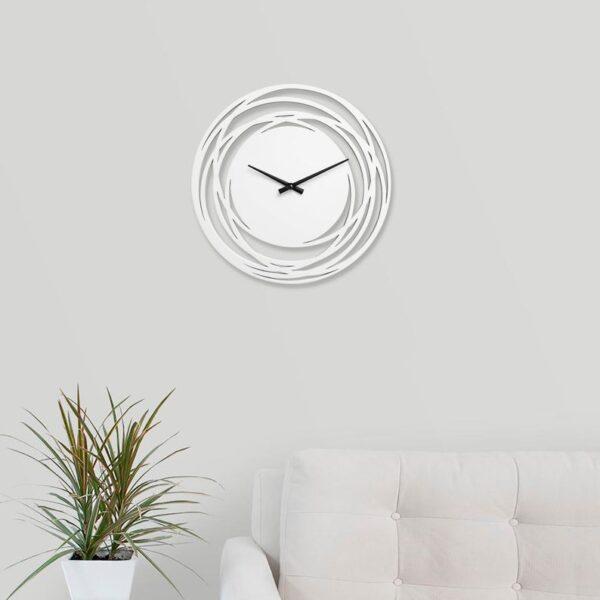 ساعت دیواری مدل اورانوس چوبی از جنس MDF و در 4 رنگ