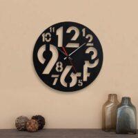 ساعت دیواری با رنگ مشکی مدرن جنس شیشه نشکن (پلکسی گلس)