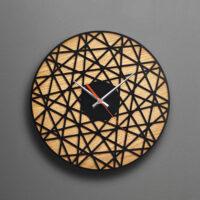 ساعت دیواری چوبی بی نظیر جنس بدنه ام دی اف در دو رنگ متفاوت
