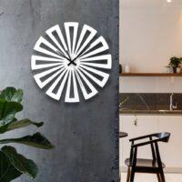 ساعت دیواری مدل چرخی چوبی در سه رنگ مختلف