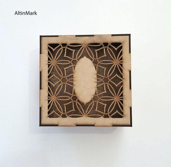 باکس هدیه استاتیس جنس چوبی (MDF) خام در 5 سایز