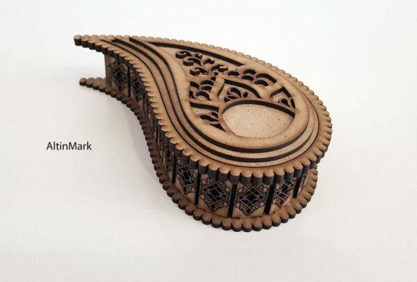 باکس هدیه بته جقه جنس چوبی (MDF) کد 4821